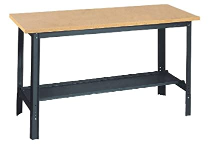 Super Edsal Ub800 Industrial Gray Heavy Gauge Steel Economy Work Bench With 1 Particle Board Shelf 29 Height X 72 Width X 30 Depth Theyellowbook Wood Chair Design Ideas Theyellowbookinfo