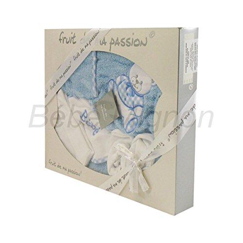 Geschenkset Geburt Badeset blau und weiß-Teddy)