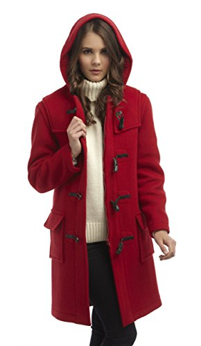 Original Montgomery Womens Duffle Coat -- Red Size 8 -