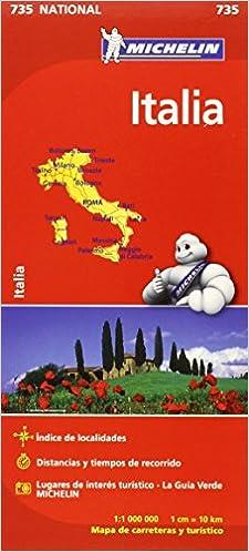 Mapa National Italia Colección Mapas National Michelin: Amazon.es: Vv.Aa, Vv.Aa: Libros