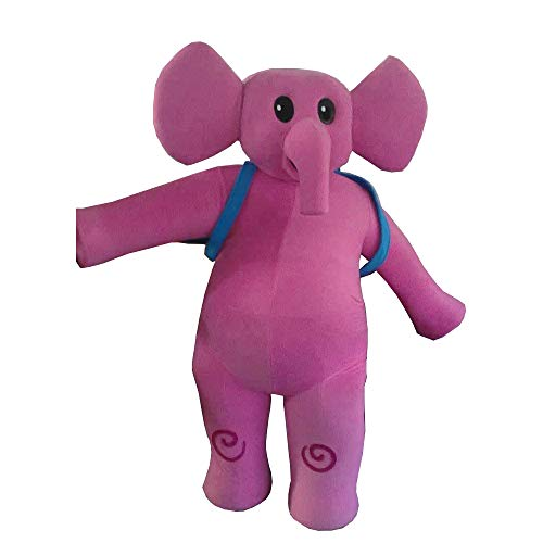 Elly Pocoyo Pink Elephant Mascot Costume Character Cosplay Party Birthday -