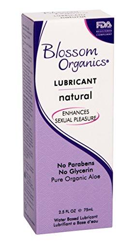 Blossom Organics Natural Moisturizing Lubricant, 2.5 Ounce (Pack of 6) - Moisturizing Personal Lubricant