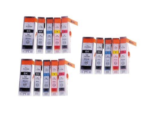 15 Pack - Toners & More Compatible Inkjet Cartridge Set f...