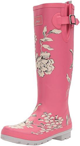 Joules U_wellyprint, Women's Wellington Boots Pink (True Pink Floral)