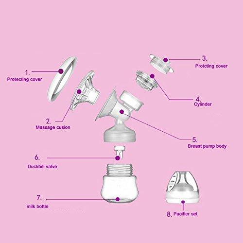Electric-Breast-Pump-For-Breastfeeding-Single-Milk-Storage-Bottle-USB-Rechargeable-Breast-Massager-Breast-Care-9-Levels-Massage-Suction-With-HD-LED-Display