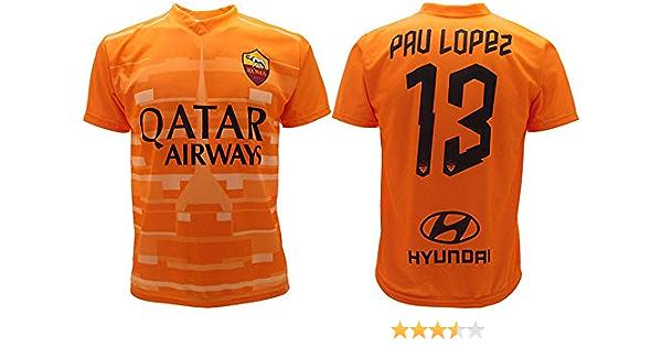 Camiseta Pau Lopez Roma 2020 oficial 2019 AS Roma Adulto niño camiseta portero Roma 13: Amazon.es: Ropa y accesorios