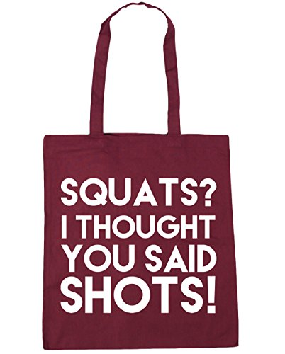 Burgundy Beach Shots Said HippoWarehouse Shopping Squats Gym 42cm Tote You 10 Bag Thought I x38cm litres IRRZwXqz