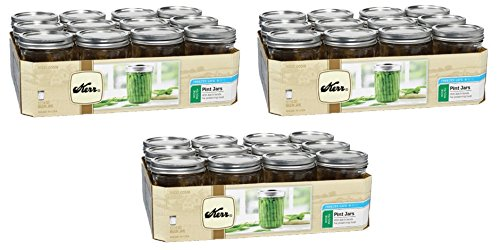 Kerr 518 Wide Mouth Jars with Lids and Bands, 16-Ounce, Set of 12 (3)