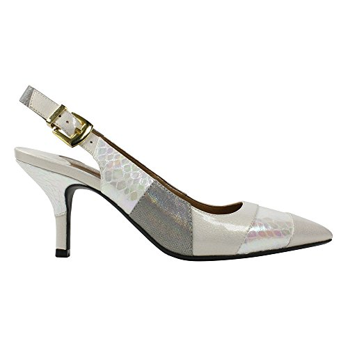 J.Renee Women's Laceyann Dress Pump Iridescent Ivory sale great deals sale wide range of latest sale online clearance big sale discount ebay Ilr2uAe