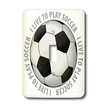 3dRose lsp/_41820/_1 I Live to Play Text Around Soccer Ball Single Toggle Switch