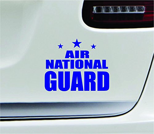 (Air national guard 5.4x4.3 blue government air guard militia air force USA united states color sticker state decal vinyl - Made and Shipped in USA)