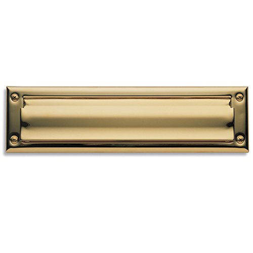 Baldwin Estate 0014.003 Letter Box Plate in Polished Brass, 13