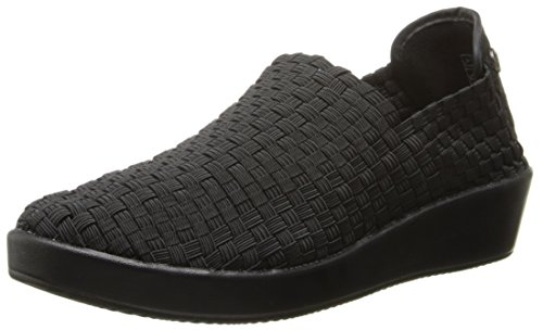 Bernie Mev Mujeres Smooth Cha Cha Slip-on Loafer Negro