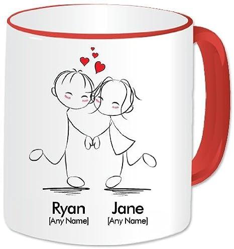 Personalised Mug I Love You Romantic Dancing Couple Mug A