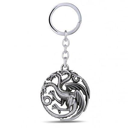 FiraDesign Targaryen Dragon Sigil Llavero Llavero GOT ...