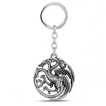 Amazon.com: FiraDesign Targaryen Dragon Sigil - Llavero ...
