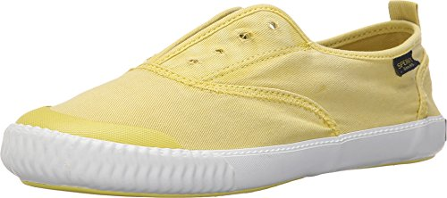 Sperry Top-sider Donna Sayel Clew Washed Sneaker Di Tela Giallo Chiaro