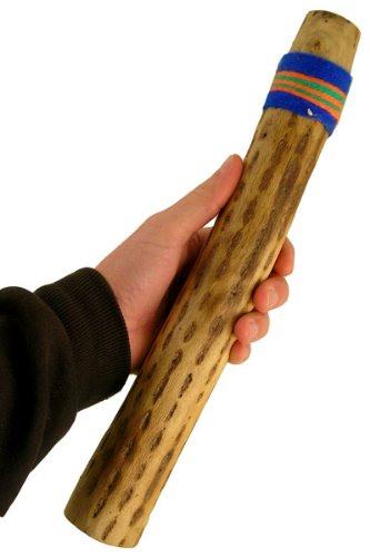 20'' Chilean Cactus Rainstick Musical Instrument with yarn wrap and sealant - Authentic Rain Stick Shaker from Africa Heartwood Project (TM)