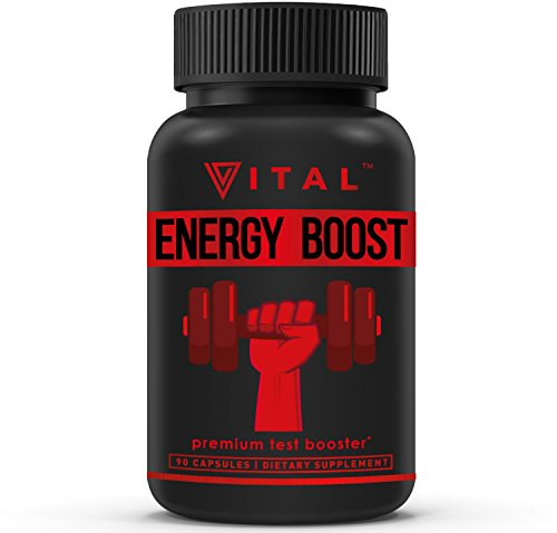 Energy Booster Test Booster - Formulated to Increase T-Levels & Energy - 9 Powerful Ingredients Including Tribulus, Fenugreek, Yohimbe, Maca & Tongkat Ali, 90 Veggie Caps