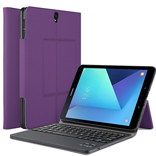 IVSO Samsung Galaxy Tab S3 9.7 Case With Keyboard Ultra-Thin DETACHABLE Keyboard Portfolio Stand Case/Cover for Samsung Galaxy Tab S3 9.7-Inch Tablet w/ S Pen SM-T820/SM-825 (Black)