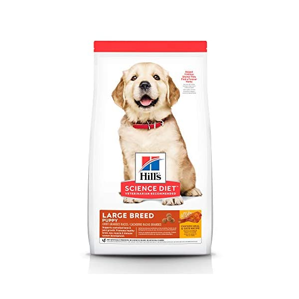 Hill's Science Diet Dry Dog Food, Puppy, Large Breeds, Chicken Meal & Oats Recipe, 30 lb Bag
