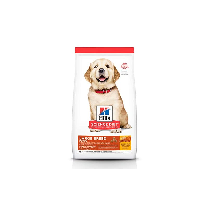 dog supplies online hill's science diet dry dog food, puppy, large breeds, chicken meal & oats recipe, 30 lb bag