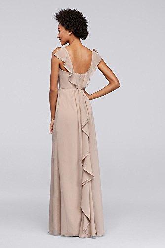 Mancherons Flutter Robe Longue De Mariée Demoiselle D'honneur De David Style De Mercure F19285