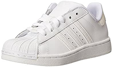 adidas Originals Superstar II Sneaker (Little Kid/Big Kid),White/White/White,10.5 M US Little Kid