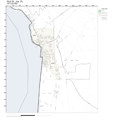 St Joe Florida Map.Amazon Com Zip Code Wall Map Of Port St Joe Fl Zip Code Map Not