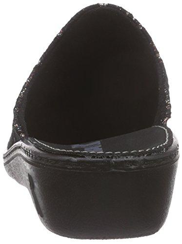 Mujer Zuecos Negro 396 Romilastic Romika tgqYxBWPw1
