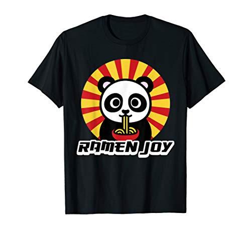 Panda Ramen Soup T Shirt Noodle Slurp Delicious Asian Soup