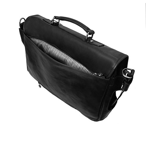 Tuscany Leather - Ventimiglia - Cartable TL SMART multi compartiments en cuir avec poches frontales - Noir