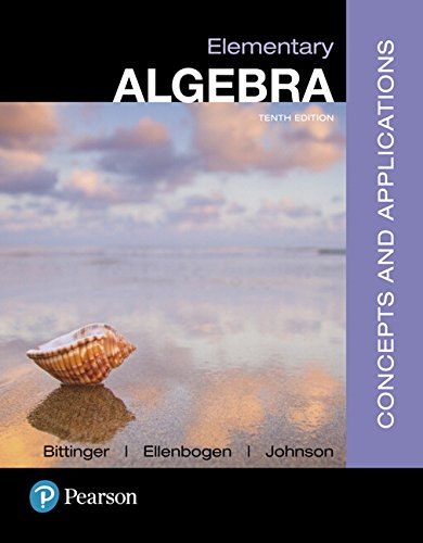 Elementary Algebra: Concepts and Applications (10th Edition)