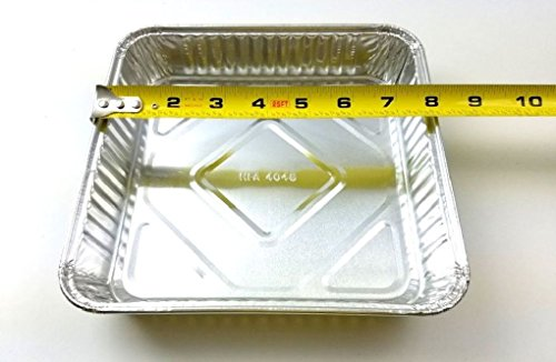 8'' x 8'' Disposable Square Cake Aluminum Foil Pan 500/CS REF # 4048 by Osislon Series