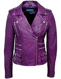 Amazon.com: Purples - Leather & Faux Leather / Coats, Jackets ...