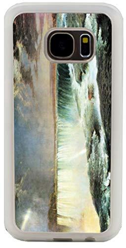 Hard Rubber Clear Phone Case Galaxy S7 Case Cover- Frederick Edwin Church Art Niagara Falls
