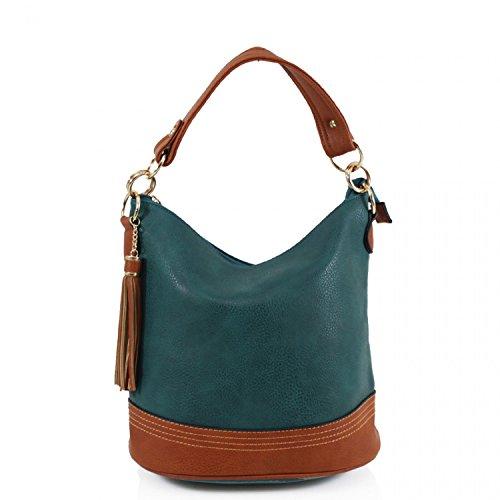 For Green Handbags Leahward Women's Bag Bags Shoulder Tassel Tote Women Fashion Bucket Cw9660 z0qzr7