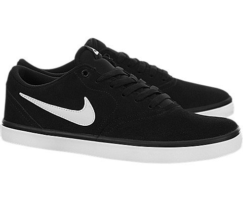 NIKE Men's SB Check Solar Black/White Skate Shoe 14 Men US