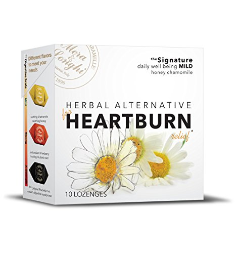 Natural Herbal Candies (Natural HEARTBURN Relief - Herbal Candy Digestive Lozenges - MILD - SPECIAL DEAL - 8 boxes - Honey Chamomile)