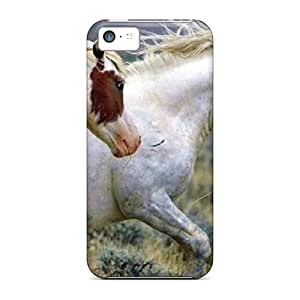 Malailne Design High Quality Mustang King Queen Cover Case With Excellent Style For Iphone 5c