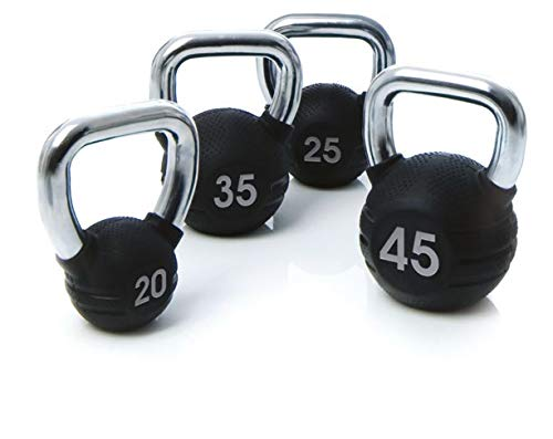 Escape Fitness USA Rubber Kettlebell, Black, 70 lb