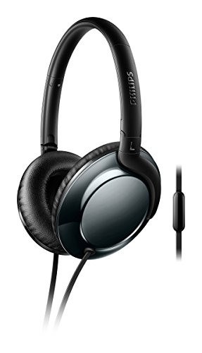 Philips Flite Everlite Over Ear Headphones – Black + Dark Chrome (SHL4805DC/27)