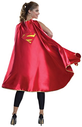 Rubie's Costume Co Women's DC Superheroes Deluxe Supergirl Cape, Multi, One Size - Superwoman Costumes For Girls