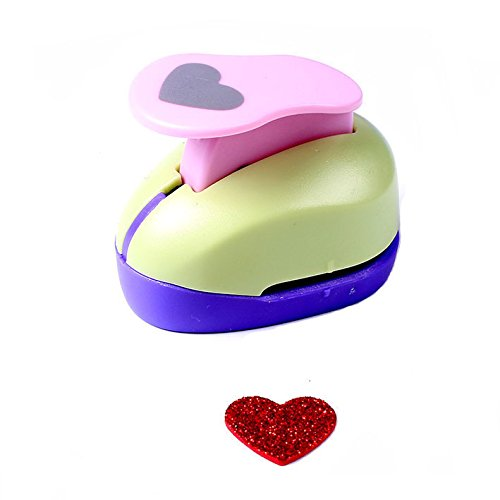 Sunny W Craft Punch Paper Punch Scrapbooking Punches Diy Paper Cutter Eva Foam Maker Paper Drillers,Heart Shaped ()