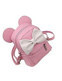 ShiningLove Girls Mini Backpack Preppy Style Mickey Ears Bowknot School Backpacks Women Shoulder Bag