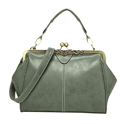 CieKen Women's Shoulder Bags,Women's Fashion Handbag Shoulder Bag Scrub Bag British Retro Messenger Bag,Army Green,Women's Fashion