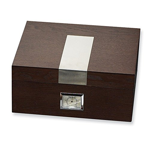 Jewelry Best Seller Espresso Wood (Holds 50) Cedar Lined Cigar Humidor