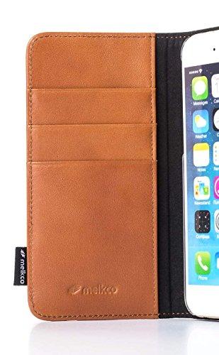"""Melkco étui en cuir prime Bzone Série type de livre case pour iPhone 6 - 4.7"""" (Marron et Bleu)"""