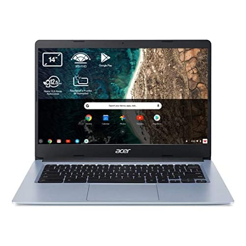 chollos oferta descuentos barato Acer Chromebook 314 CB314 1H Ordenador Portátil 14 HD Laptop Intel Celeron N4020 4GB RAM 64GB eMMc Intel UHD Graphics Chrome OS PC Portátil Color Plata Teclado Qwerty Español