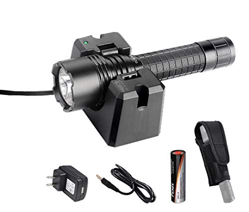 Premium Bundle- Fenix RC20 1000 Lumens Rechargeable Cree XM-L2 U2 Tactical LED Flashlight with USB Charging Cradle, LumenTac Heavy Duty Holster - Heavy Duty Holster